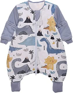 Kylewo Baby Winter Schlafsack 3.5 Tog Warm gef/üttert Winter Langarm Winterschlafsack mit F/üssen,Junge M/ädchen Unisex Overall Schlafanzug