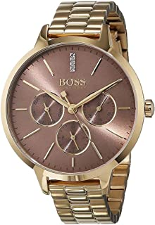Hugo Boss Women's Brown Dial Stainless Steel Band Watch - 1502422