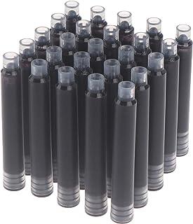 100 Pieces Fountain Pen Ink Cartridges Black Ink Cartridges Ink Refill Cartridges International Standard Size Cartridges f...
