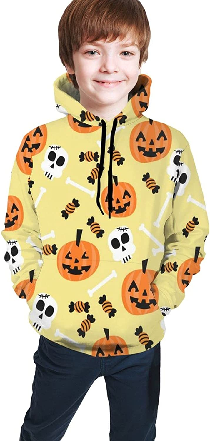 Buoluty Halloween Tops-Children'S Trendy Clothing, Young Boys And Girls Pullover Hooded Sweater With Pockets