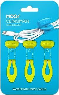 MOOY CLINGMAN(モーイ・クリングマン) ケーブルまとめ シリコンゴム製 3本セット カラフル 伸びる (グリーン)