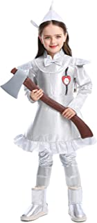 Halloween Tin Man The Wizard of Oz Kids Costume Party Luxury Dress Up for Girls