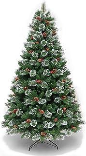 クリスマスツリークリスマスデコレーションハイエンド暗号化されたクリスマスツリーホワイトホワイトパインニードル+ PVC混合自動クリスマスツリー,210cm