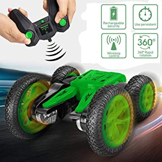 RC Cars Stunt Car Toy, Remote Control Car Double Sided Rotating Vehicles 360 Degree Flips, 4WD 2.4GHz Stunt Car, Kids Toy Cars for Boys and Girls ( Including Remote Controler)