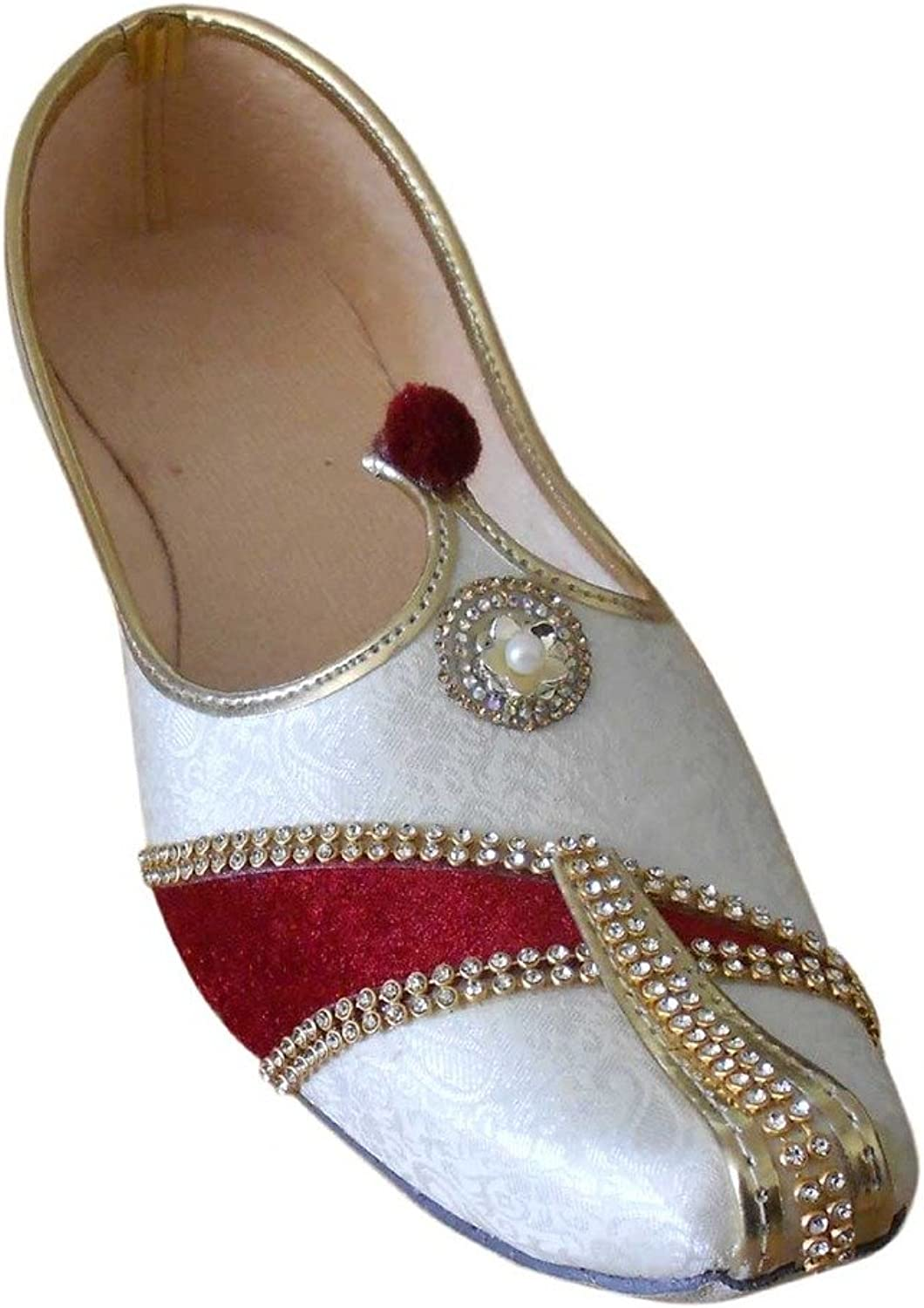 Kalra Creations Men's Traditional Indian Mojari Wedding shoes