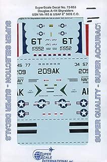 SuperScale Decals 1:72 Douglas A-1 H Skyraider USN VA-165 USAF 6 SOS #72-853
