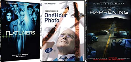 Psychological Horror Collection - One Hour Photo (Full Screen Edition), Flatliners, & The Happening 3-DVD Bundle