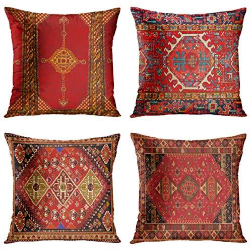 Juego de 4 fundas de almohada Britimes para decoración del hogar, de 1818 pulgadas