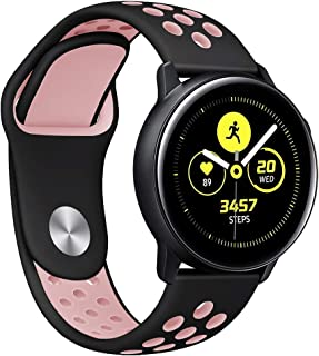 Choosebuy for Samsung Galaxy Watch Active Small Silicone Replacement Band Wrist Strap (Pink)