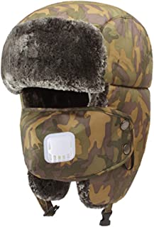 Hat Fashion Unisex Windproof Ski Balaclava With Ear Flap Face Mask Motorcycle Face Shield For Men Women Neck Warmer For Winter Outdoors Cycling Snowboarding Hiking Adjustable Warm Thick Hunting Troope