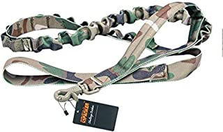 EXCELLENT ELITE SPANKER Bungee Dog Leash Tactical Nylon Adjustable Tactical Leash for Dogs Quick Release Elastic Leads Rope with 2 Control Handle