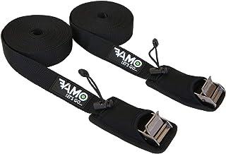 VAMO SUP Kayak Surfboard Surf Rack Tie Down Straps - Black Pair (15FT)