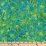 Hoffman 0668244 Bali Batik Textured Lily Pads Parakeet
