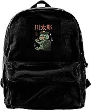 Homebe Mochila antirrobo Impermeable,Canvas Backpack Yokai Monsters Turtle Kappa Rucksack Gym Hiking Laptop Shoulder Bag Daypack for Men Women