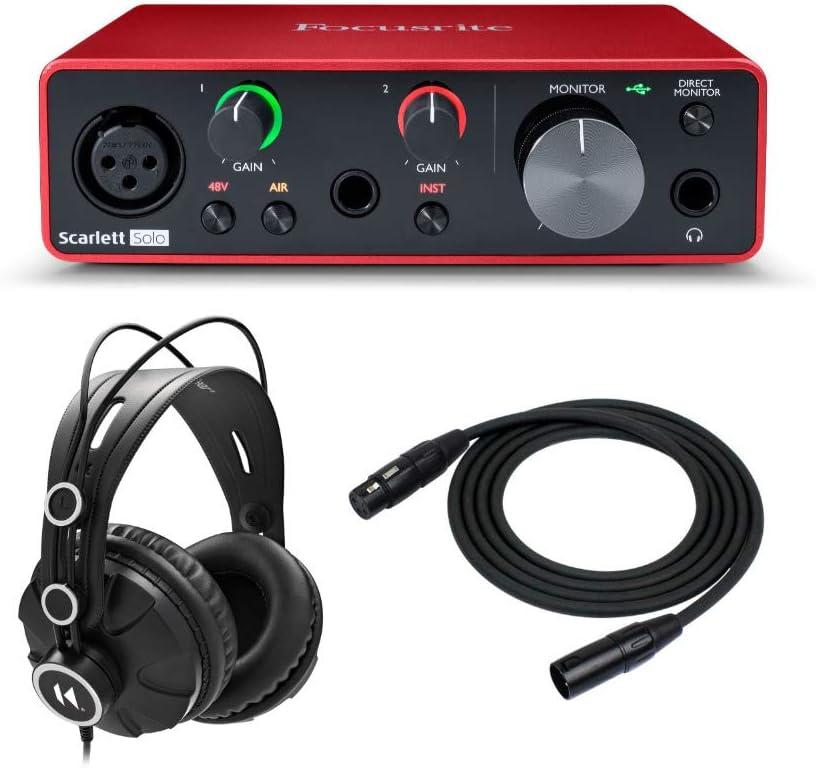 Focusrite Scarlett Solo 3rd Gen Ranking TOP11 with Interface 40% OFF Cheap Sale Audio USB Bundle