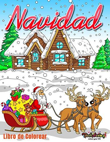 Navidad : Libro de Colorear: Libro para colorear para adultos con 25 hermosos dibujos relacionados con la Navidad.