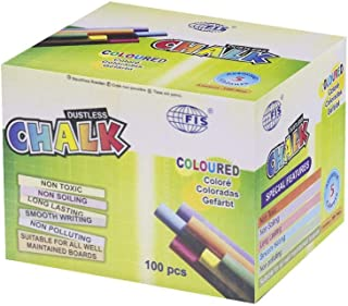 Fis Dustless Color Chalks, Box Of 100 Pieces - FSCTKOC100