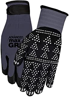 Midwest Gloves & Gear 95GY-LX Advanced Max Gripping Glove, Gray