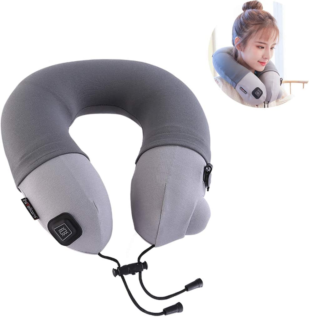 Cervical Limited time cheap sale Massage Pillow Inflatable Denver Mall Storage Travel with