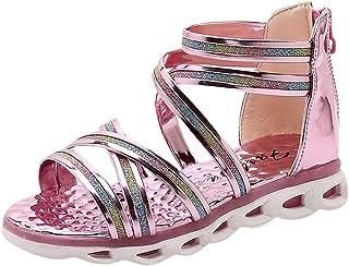 SUNyongsh Child Beach Shoes, Toddler Infant Kids Baby Shoes Girls Sequins Princess Roman Sandals