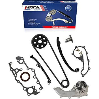 MOCA Timing Chain Water Pump Kit with VVTi Gear for 2000-2006 Toyota Corolla Celica Matrix /& 2003-2006 Pontiac Vibe GT 1.8L DOHC L4 16 Valve 2ZZGE