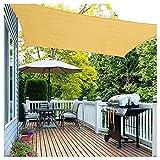 FFKL VIIPOO Rectángulo Sombra De La Sombra 98% a Prueba De UV, Protector Solar Y Transpirable, Toldo Toldo para Patio Al Aire Libre Jardín Césped,Yellow-3 * 3m