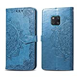 Compatible avec Coque Huawei Mate 20 Pro Etui PU Cuir Case Protection Anti-Rayures Antichoc Housse...