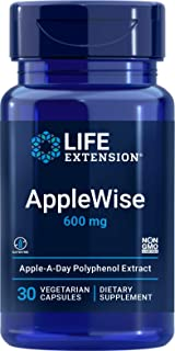 Life Extension AppleWise 600mg Antioxidant-Rich Organic Apple Polyphenols Heart & Colon Health - For Already-Healthy Blood...