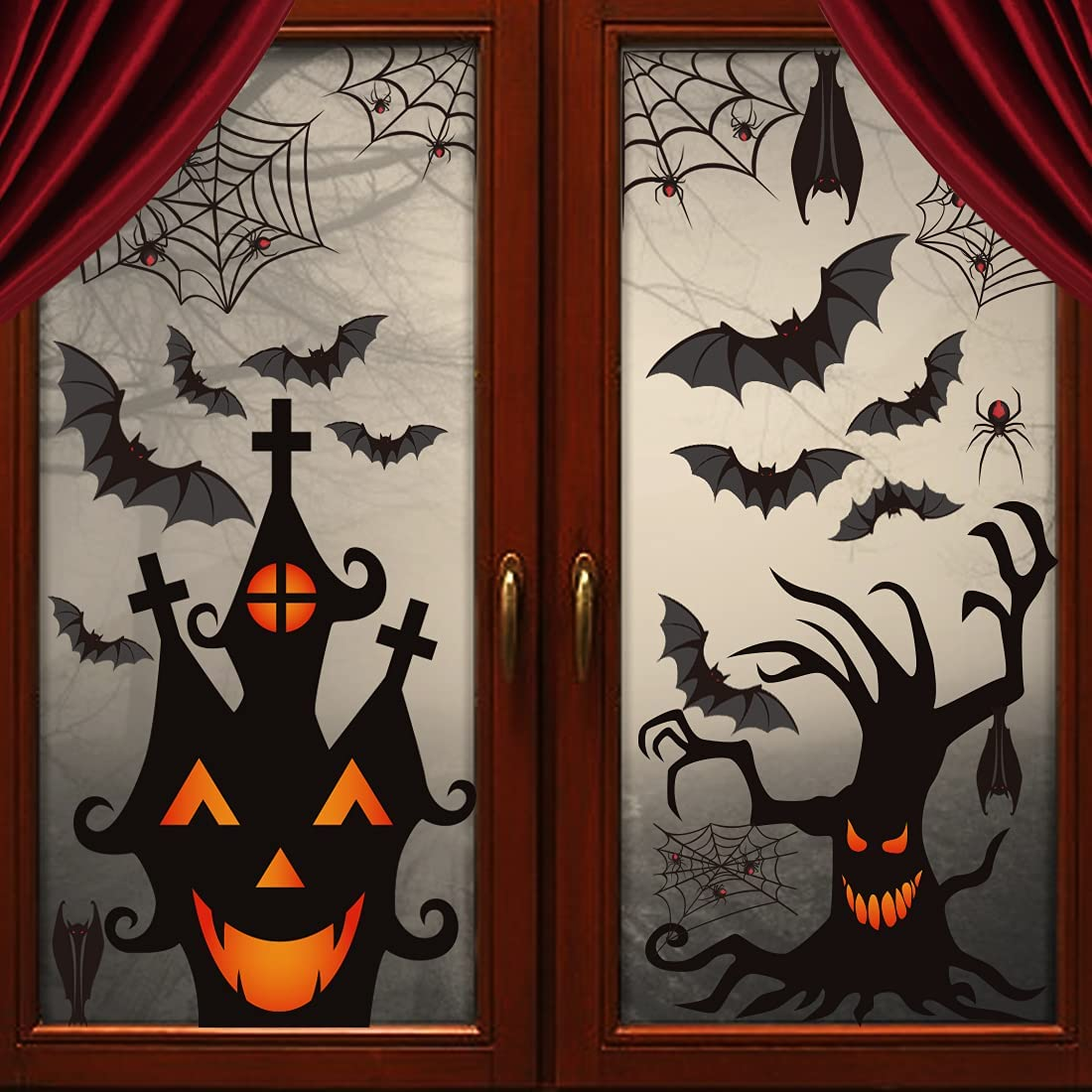 LOAVER Tucson Mall 90 Ranking TOP14 Pieces Halloween Clings Window Stickers Static