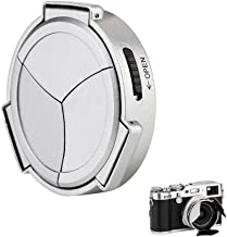 Auto Lens Cap Hood JJC Camera Automatic Lens Cap Cover Shade for Fujifilm Fuji X100F X100T X100S X100 X70 with 3 Auto Leaves -Silver