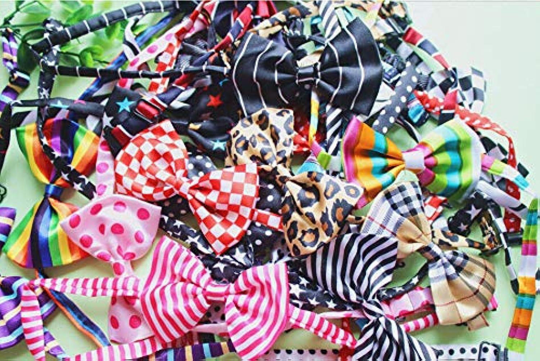 FidgetGear Wholesale 20 100P DOG Puppy CAT Pet Bowtie bows Bow Tie Necktie ties Lot out TAG mixed 33 colors 50pcs