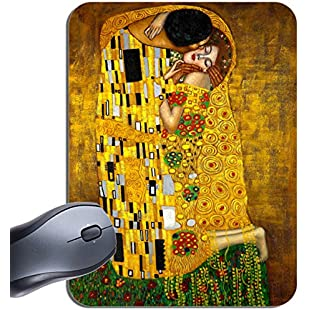 Gustav Klimt The Kiss Art Nouveau Print Mouse Mat. High Quality Art Mouse Pad