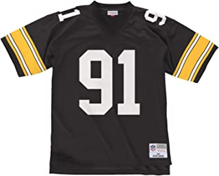 Mitchell & Ness Pittsburgh Steelers Kevin Greene Replica Throwback Jersey - Black