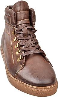 rismart Uomo Pelle Sneaker Casual Stivali Comfort High Top Scarpe