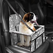 HIPPIH Small Dog Car Seat, Collapsible Pet Booster Car Seat for Vehicles, Waterproof Puppy Car Seat Suitable for Medium Pe...