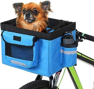 comprar comparacion Lixada Cesta Bicicleta Delantera Plegable Desmontable Cesta Multifuncional para Mascotas Compras Camping Excursión Picnic