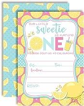 Lemon Sweetie First Birthday Party Invitations, Twenty 5
