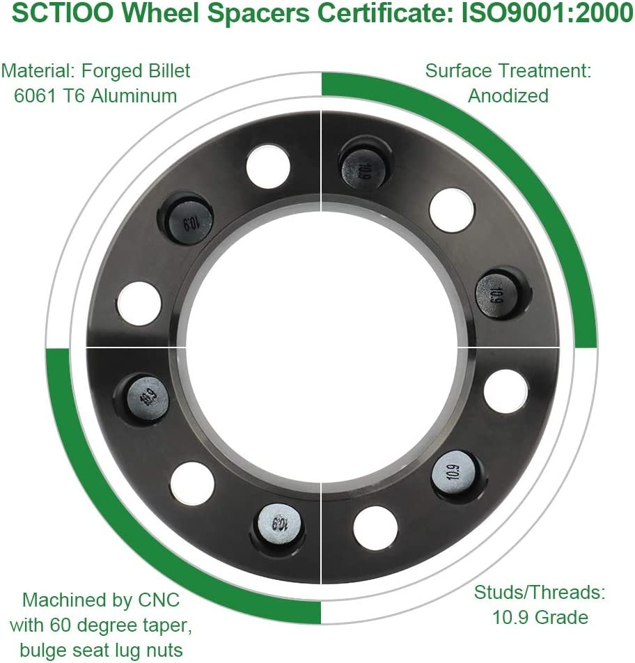 SCITOO 4PCS 1 25mm 5x100 to 5x100 Wheel Spacers 5 Lug Compatible with 1993-2014 for Subaru Impreza Legacy 2013 2014 for Subaru BRZ for Scion FRS
