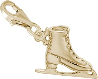 Ice Skate Charm With Lobster Claw Clasp, Charms for Bracelets and Necklaces