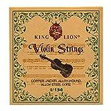 Juego de Cuerdas para Violín (G-D-A-E), Fansjoy Universal Núcleo de Acero Cuerdas para Violín 4/4, 3/4, 1/2, 1/4