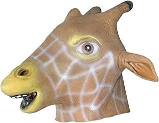 Oalas Mask Collection,Costume Party Latex Animal Head Mask, Unicorn,House,Giraffe,Piegon,Zebra
