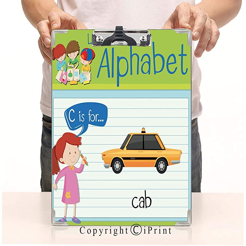 Student's Painting Clipboard,Custom Clipboard, Aluminum,PVC,A4 Standard, Flashcard Letter C is for cab zi052619956