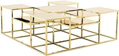 Casa Padrino Mesa de Centro Oro 120 x 120 x H. 42 cm - Muebles de ...