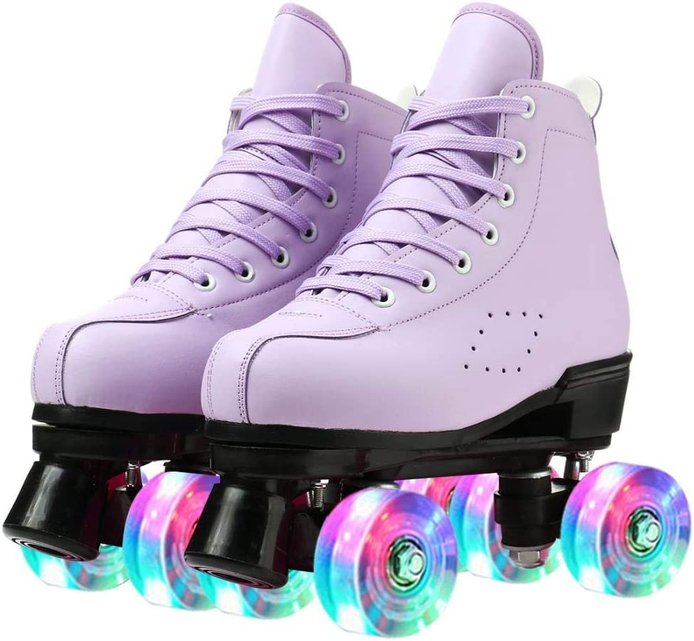 PU Leather Skate Shoes Breathable Roller High-top Pair Solid Ska Max Max 62% OFF 61% OFF