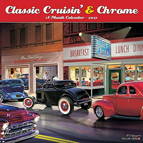 Classic Cruisin' & Chrome 2021 Wall Calendar