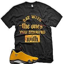 New STARVED T Shirt for Jordan 14 XIV Yellow Ferrari Carmelo 13