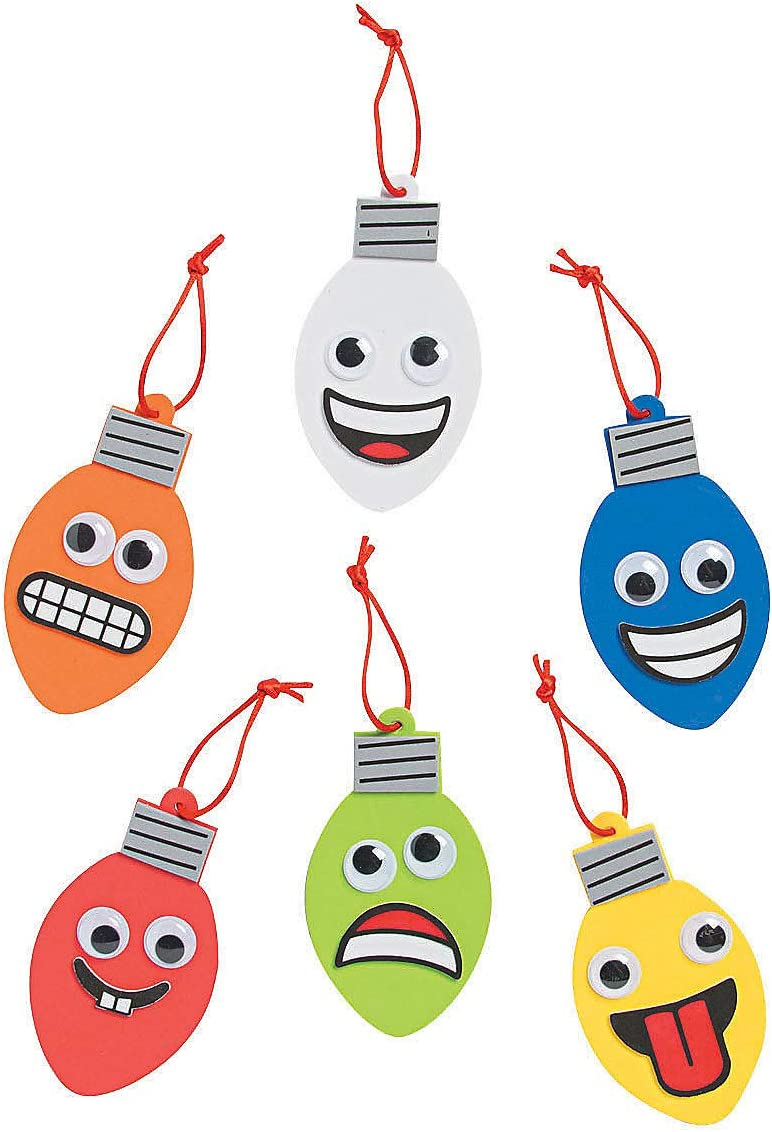 Super popular specialty store Direct sale of manufacturer Goofy Christmas Lights Craft Kit 24Pc Kids for Fu and Crafts -