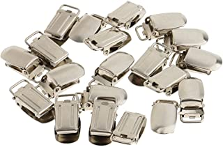 IPOTCH 20 Pieces Pacifier Suspender Clips 15mm