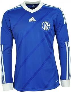 adidas FC Schalke 04 Jersey Player Issue 2013/14 Home Longsleeve No Sponsor