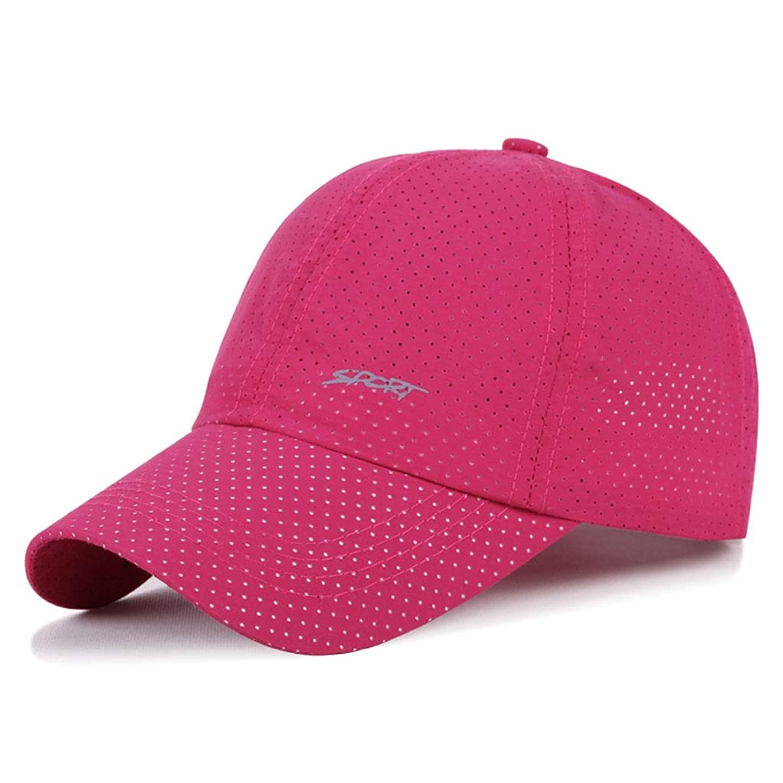 感心する移行する合併症日よけ帽 日曜日の帽子の夏の人および女性の野球帽の方法屋外の余暇の日焼け止めの日よけの網の帽子通気性および速乾性53-59cm UPF 40+ ZHAOSHUNLI (Color : Rose red)